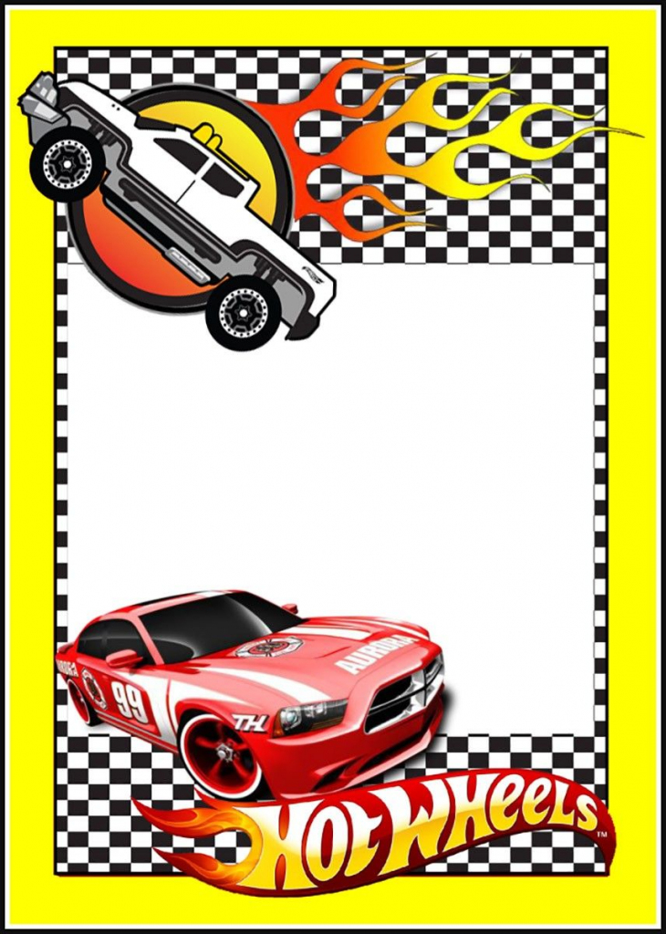 Printable Hot Wheels Invitation Card | Party In 2019 | Hot Wheels | Hot Wheels Birthday Cards Printable