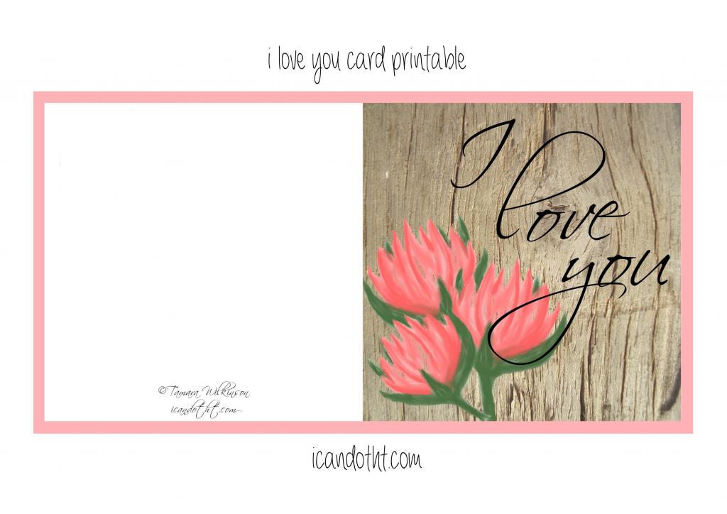 Printable I Love You Cards I Love You Printable Card With Hearts | Printable I Love You Cards