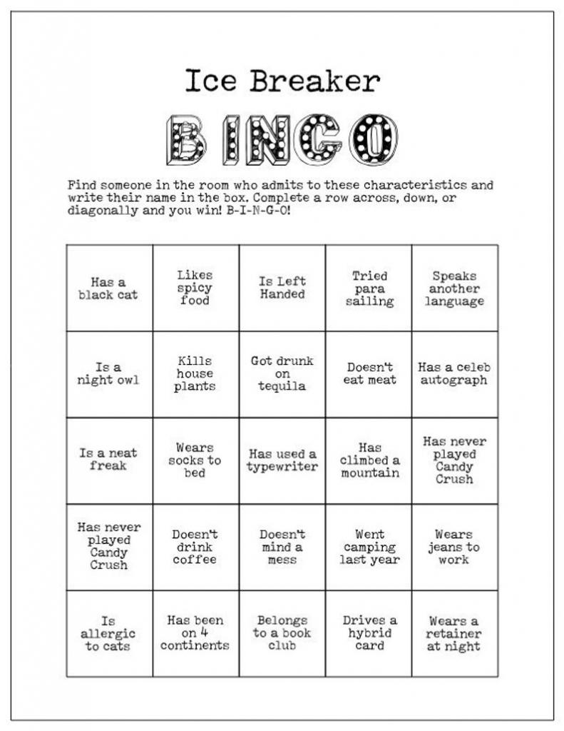Printable Ice Breaker Game Human Bingo Wedding Bridal | Etsy | Printable Icebreaker Bingo Cards