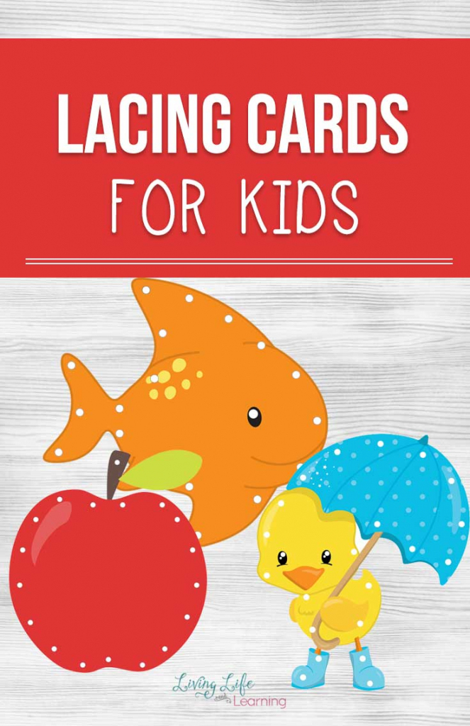 Printable Lacing Cards For Kids   Printable Lacing Cards Numbers
