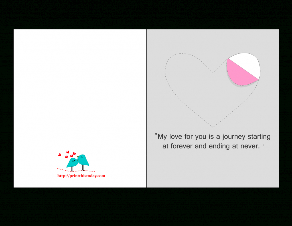 Printable Love Cards With Cute, Romantic And Thoughtful Quotes | Free Printable Love Cards