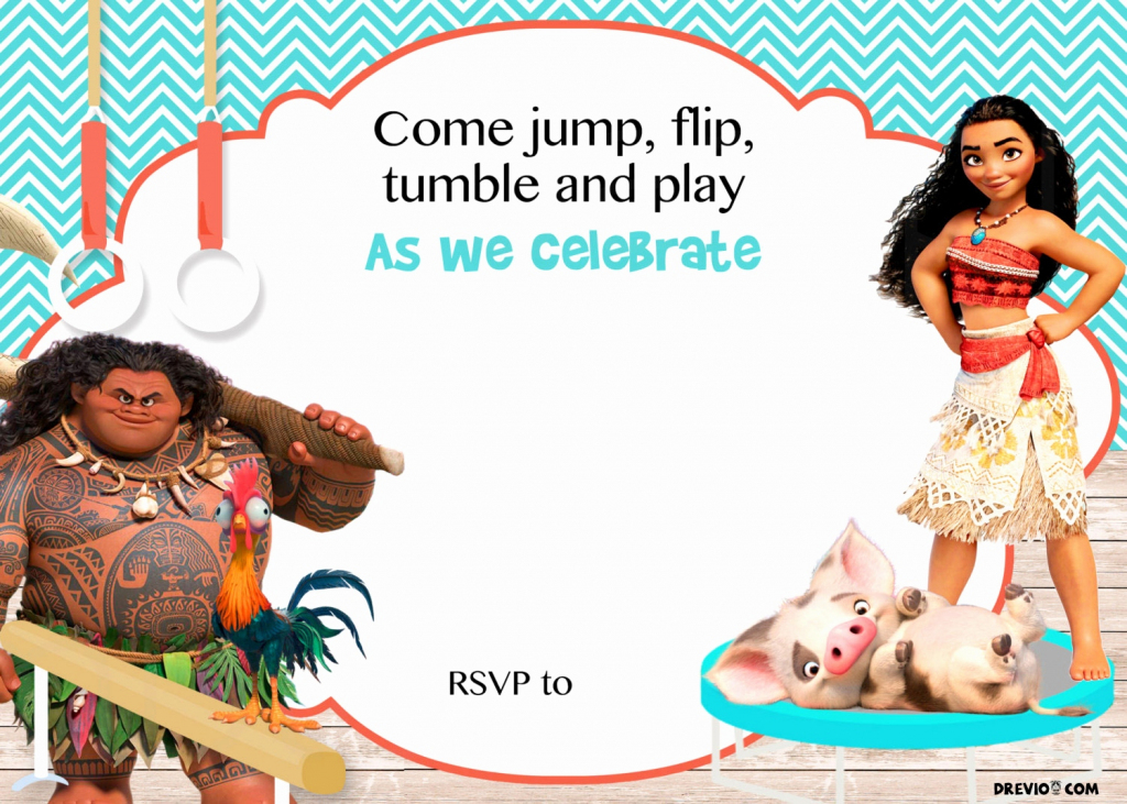 Printable Moana Birthday Card New Moana Birthday Invitations Free | Free Printable Moana Birthday Cards