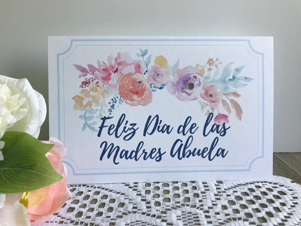 Printable Mother's Day Card In Spanish Feliz Dia De Las | Etsy | Mothers Day Cards In Spanish Printable