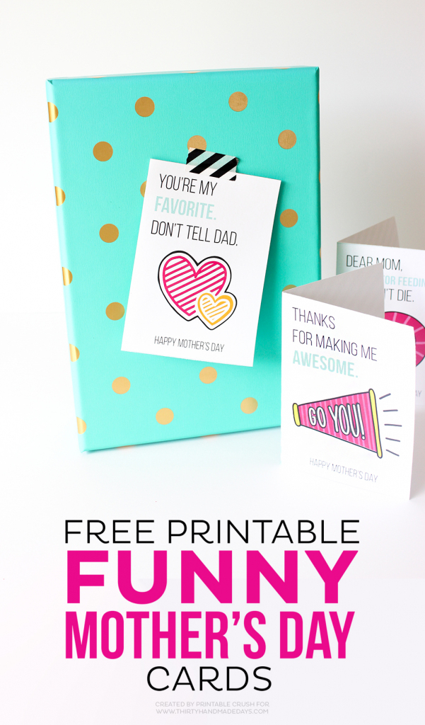 Printable Mother's Day Cards | Free Funny Printable Cards