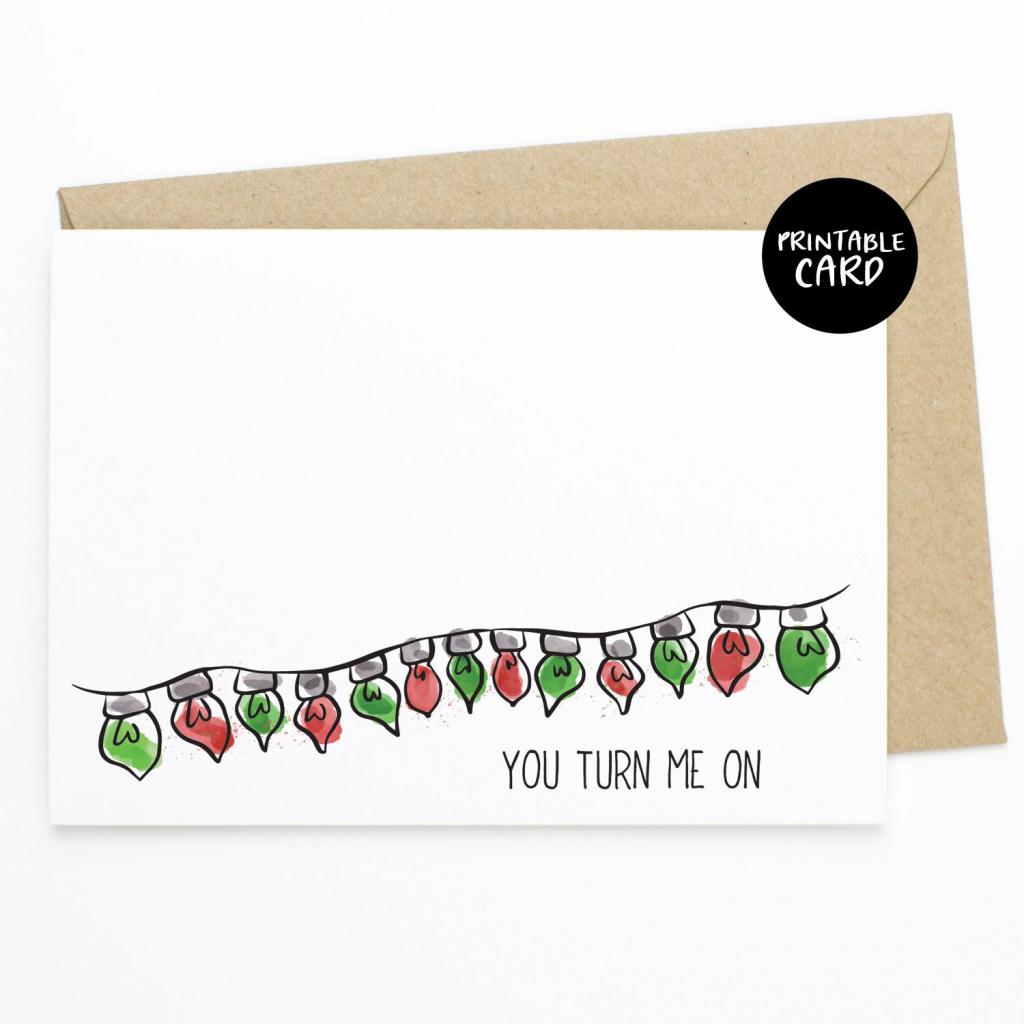 Printable Naughty Christmas Card Funny Christmas Card For | Etsy | Christmas Cards For Him Printable