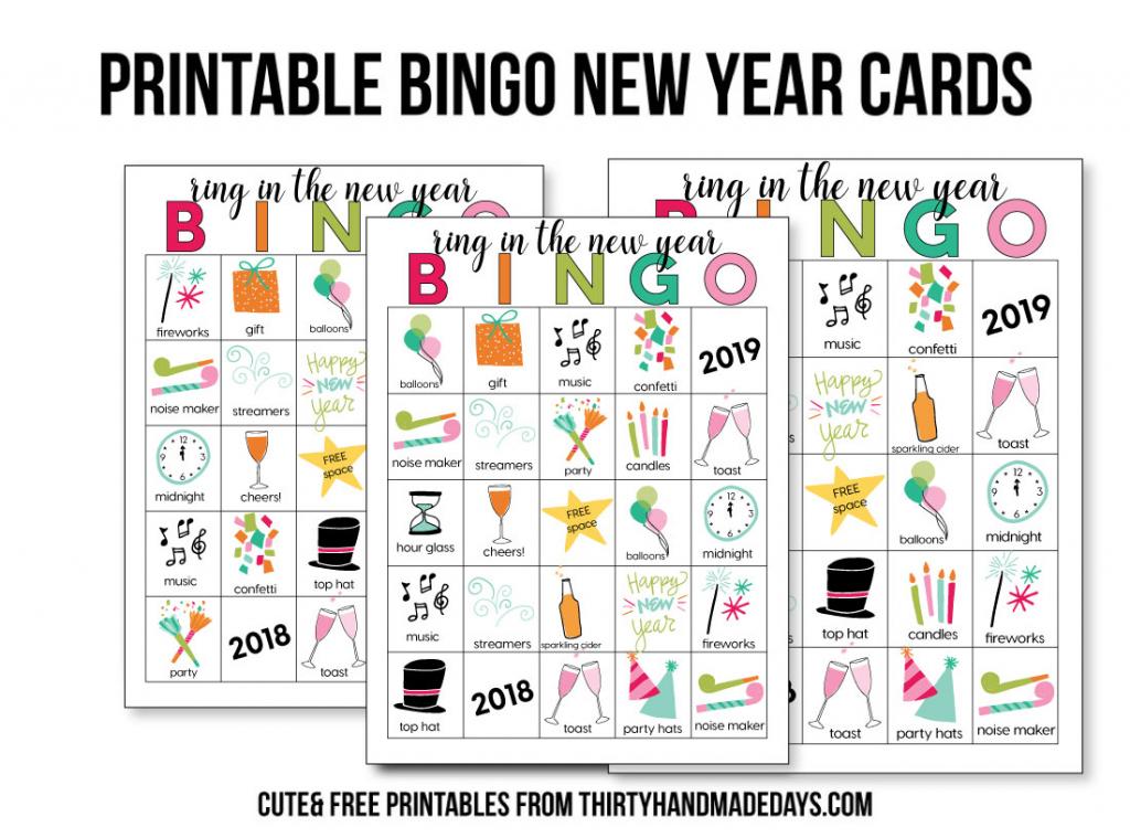 Printable New Year's Eve Bingo Sheets   Free Printable Bingo Cards Random Numbers
