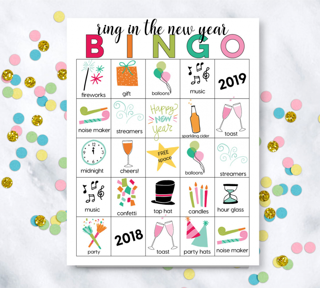 Printable New Year's Eve Bingo Sheets   Printable Picture Bingo Cards For Kids