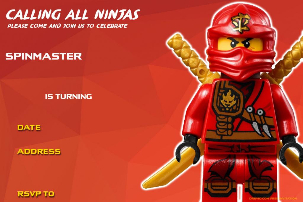 Printable Ninjago Birthday Cards | Zwonzorg | Ninjago Printable Birthday Card
