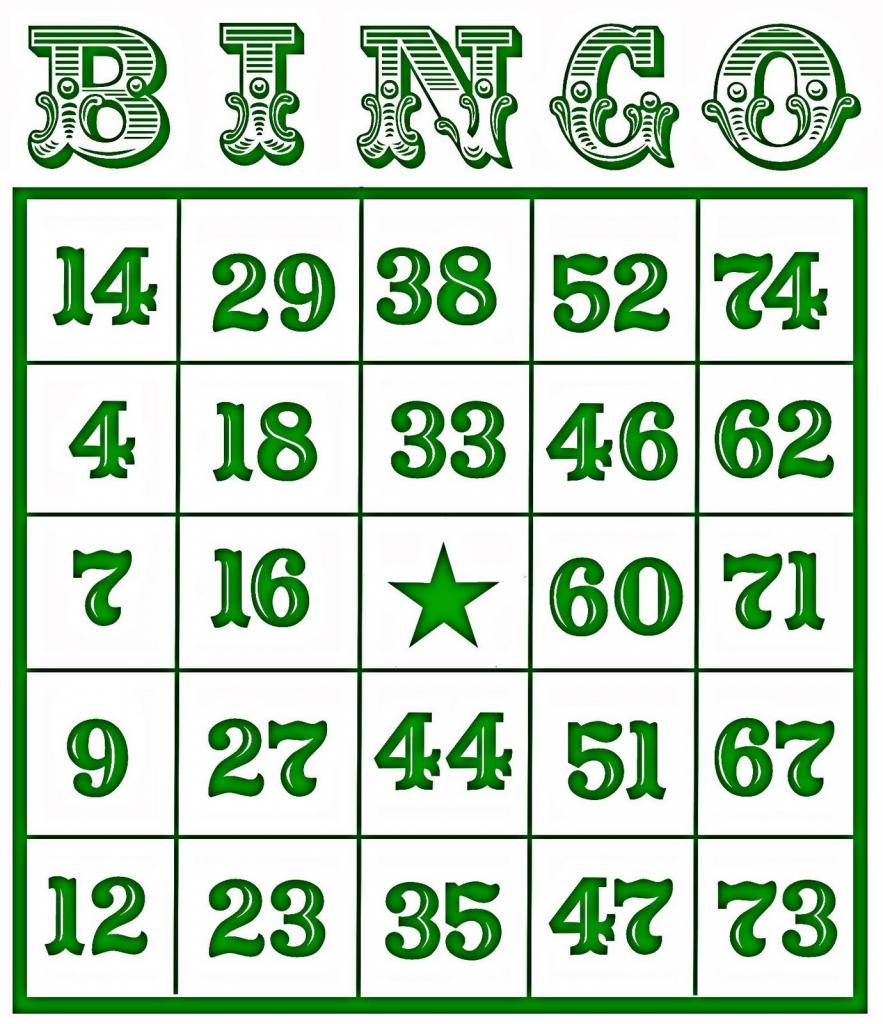 Printable Number Bingo Cards (76+ Images In Collection) Page 1   Printable Number Bingo Cards