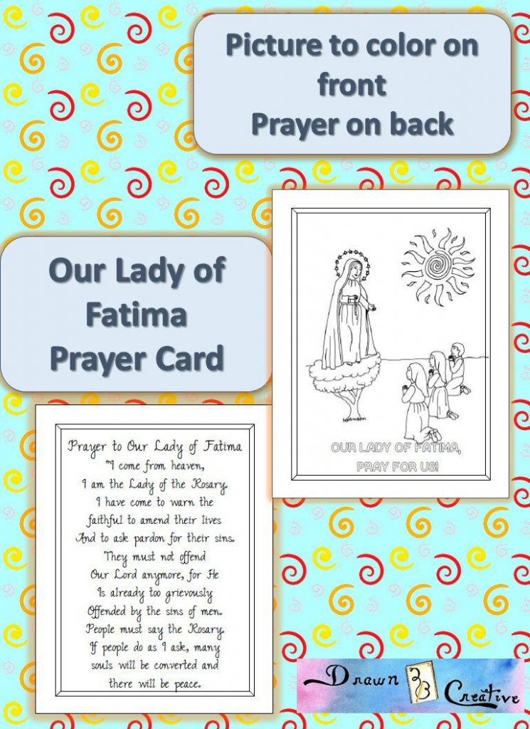 Printable Our Lady Of Fatima Prayer Cards | Catholic Printables | Printable Catholic Prayer Cards