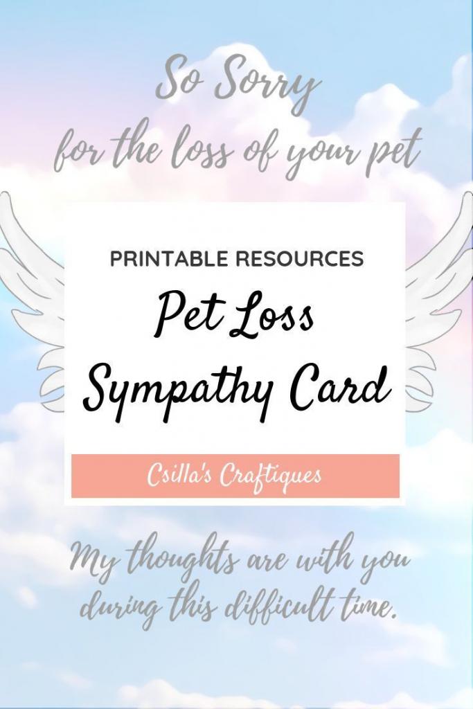 Printable Pet Loss Sympathy Card   Animals & Nature Lovers   Pets   Printable Pet Sympathy Cards
