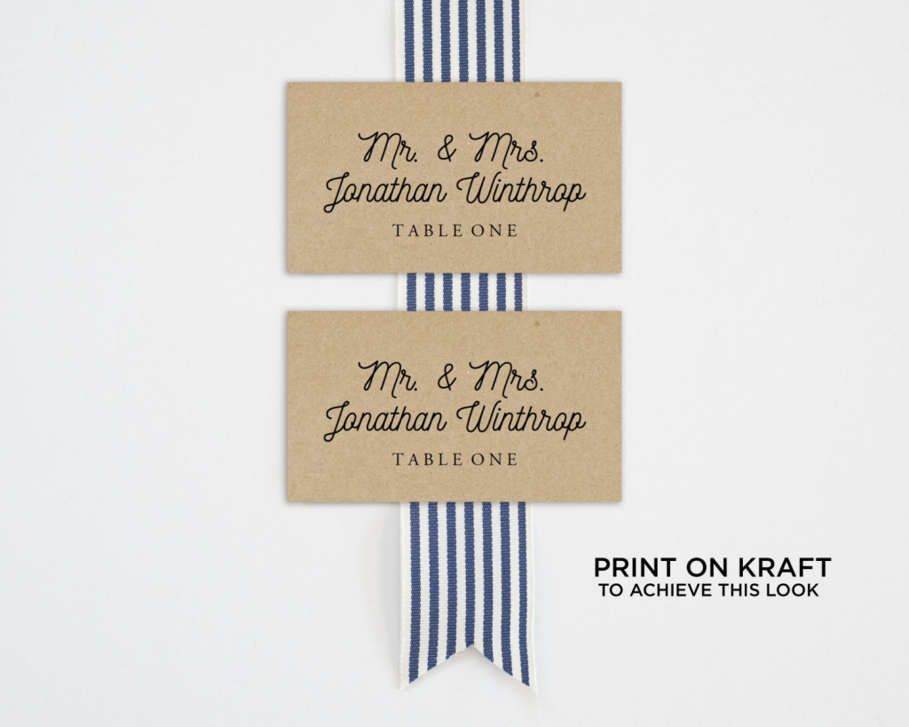 Printable Place Card Template Wedding Place Cards Seating | Etsy | Printable Place Cards Template