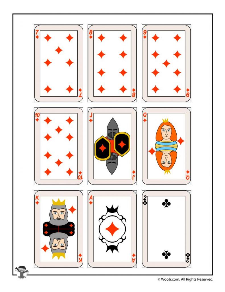 Printable Playing Cards - Diamonds & Clubs | Woo! Jr. Kids Activities | Printable Deck Of Cards