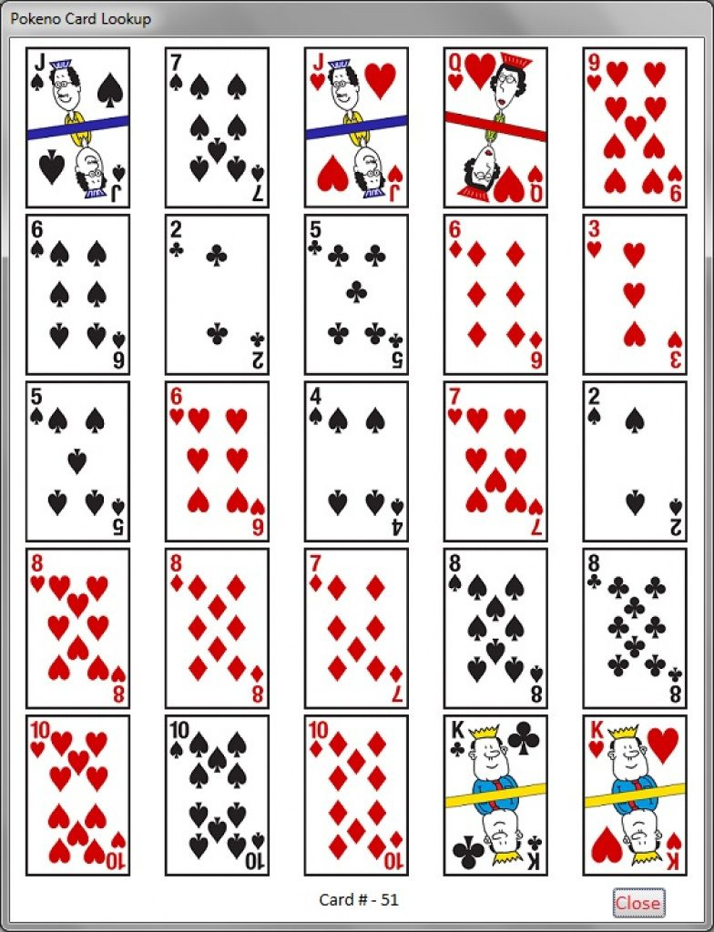 Printable Pokeno Game Boards | Www.topsimages | Free Printable Pokeno Game Cards