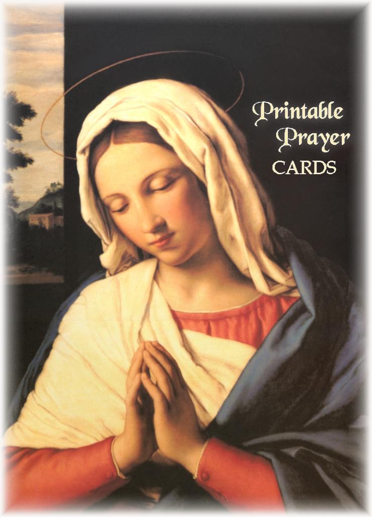 Printable Prayer Cards | Free Printable Catholic Prayer Cards