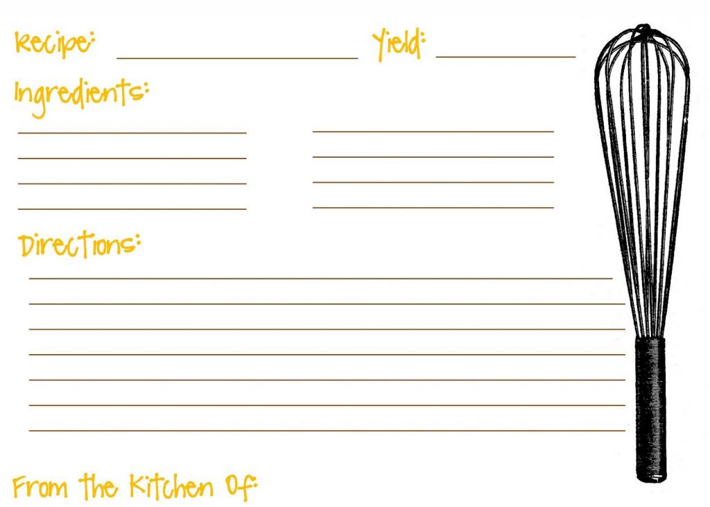 Printable Recipe Cards For Kids Recipe Template For Kids   Recipe   Printable Recipe Card Template