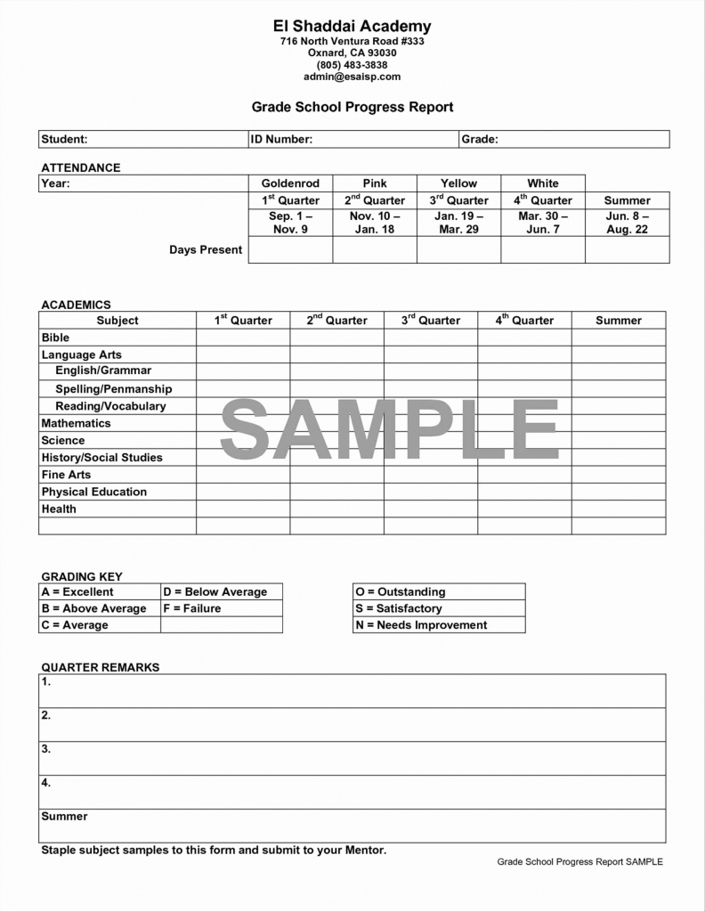 Printable Report Cards Template | Cranfordchronicles | Free Printable Report Cards