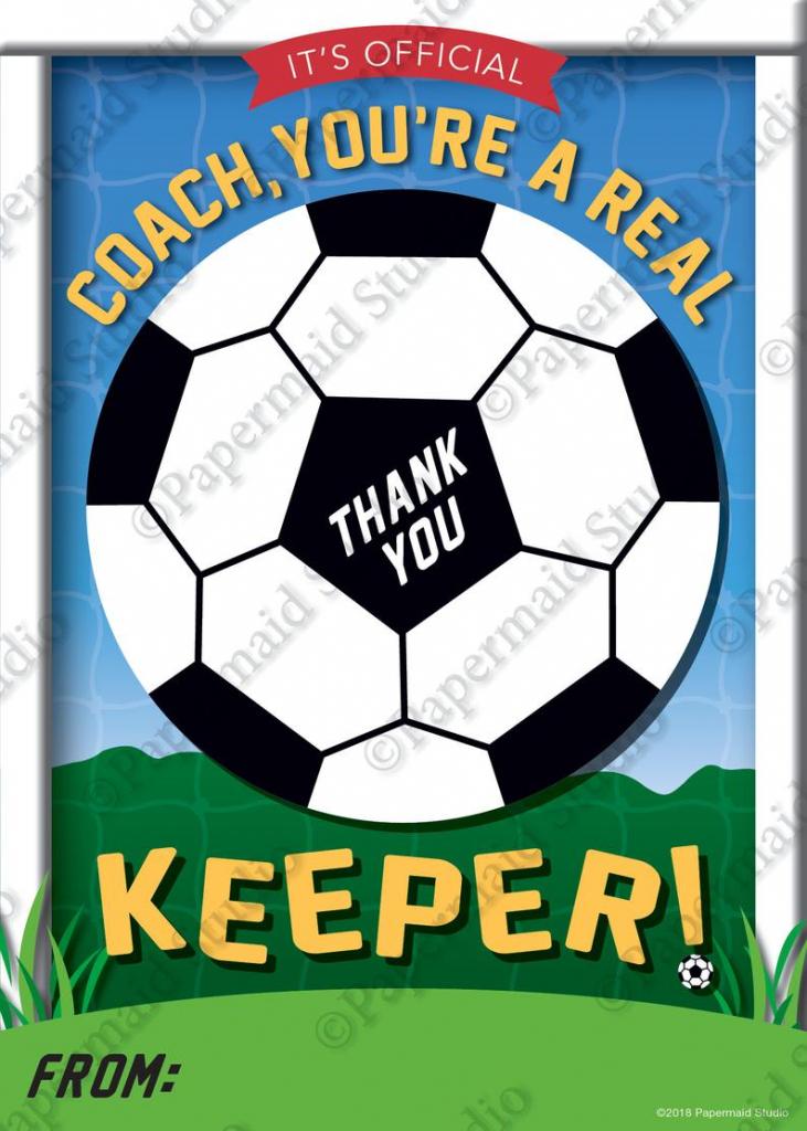 Printable Soccer Coach Thank You Card Printable Soccer | Etsy | Free Printable Soccer Thank You Cards