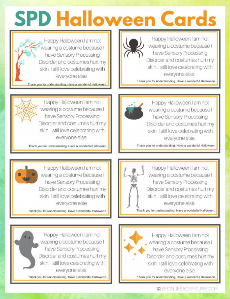 Printable Spd Halloween Cards For Children That Struggle With   Printable Halloween Greeting Cards