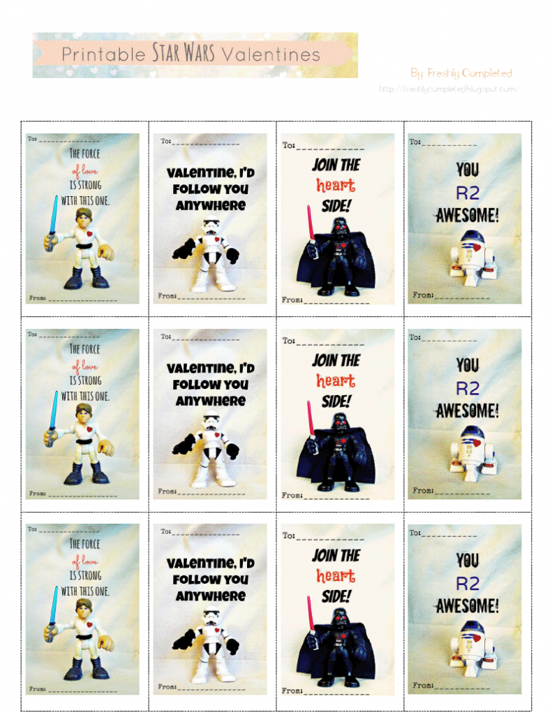 Printable Star Wars Valentines.pdf - You R2 Awesome! | Free | Printable Star Wars Cards