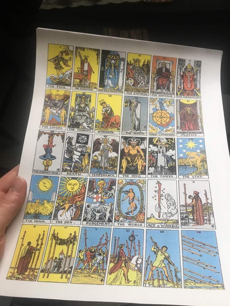 Printable Tarot Deck ~ | The Witches' Circle Amino | Printable Tarot Card Deck