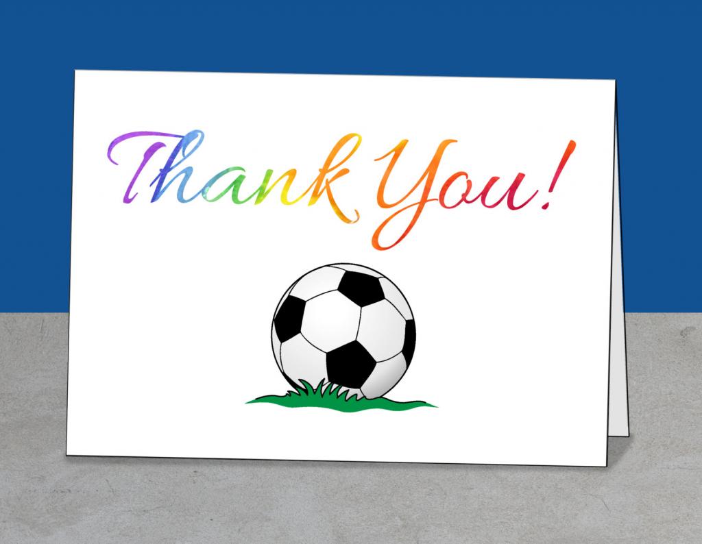 Printable Team Thank You Card For Soccer Coach Instant | Etsy | Football Thank You Cards Printable