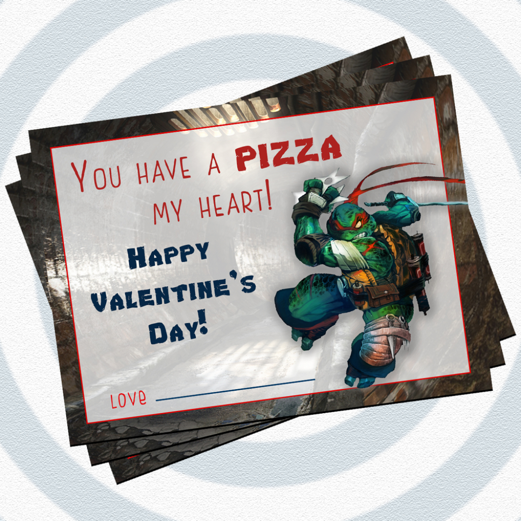 Printable Teenage Mutant Ninja Turtle Valentine Cards, Only $5 | Teenage Mutant Ninja Turtles Printable Valentines Day Cards
