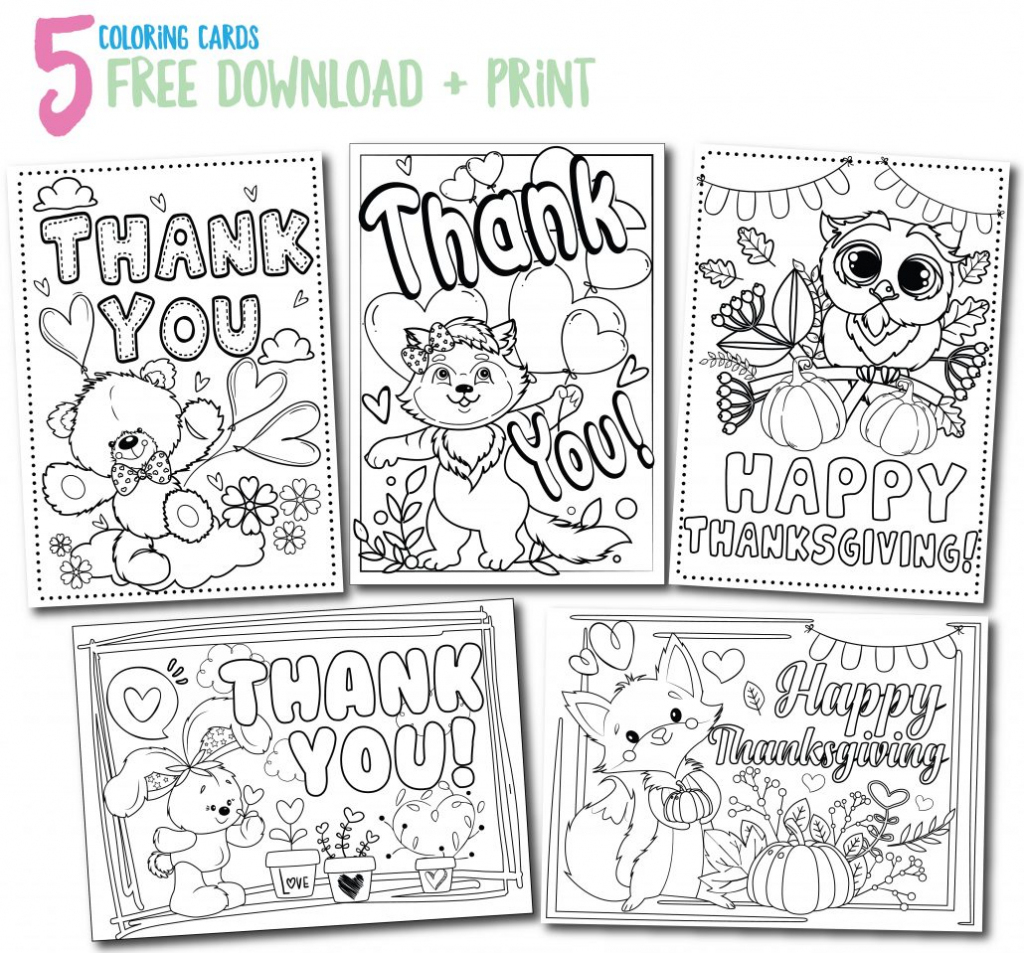 Printable Thank You Cards - Thank You, Me   Printable Thank You Cards To Color