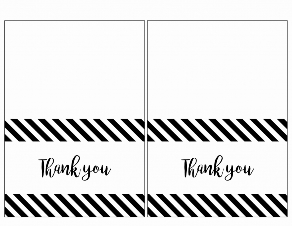 Printable Thank You Note Template Beautiful Free Thank You Cards | Printable Photo Thank You Card Template