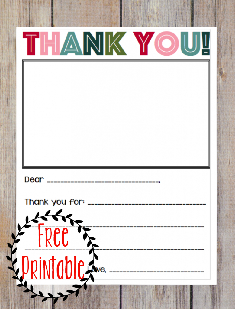 Printable Thank You Note - Three Little Ferns - Family Lifestyle Blog | Military Thank You Cards Free Printable