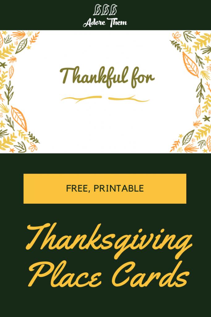 Printable Thanksgiving Place Cards | Adorethem - Collection Of | Printable Thanksgiving Place Cards For Kids