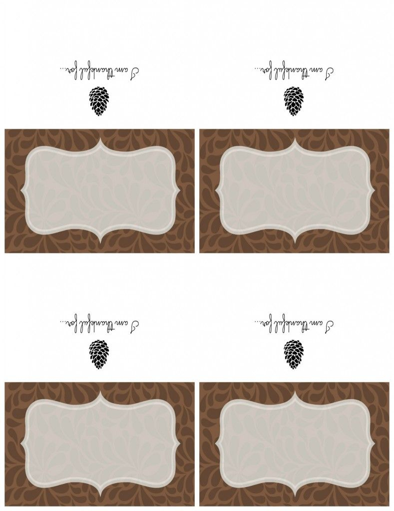 Printable Thanksgiving Place Cards And An Easy Chalkboard Place Card | Cards Sign Free Printable
