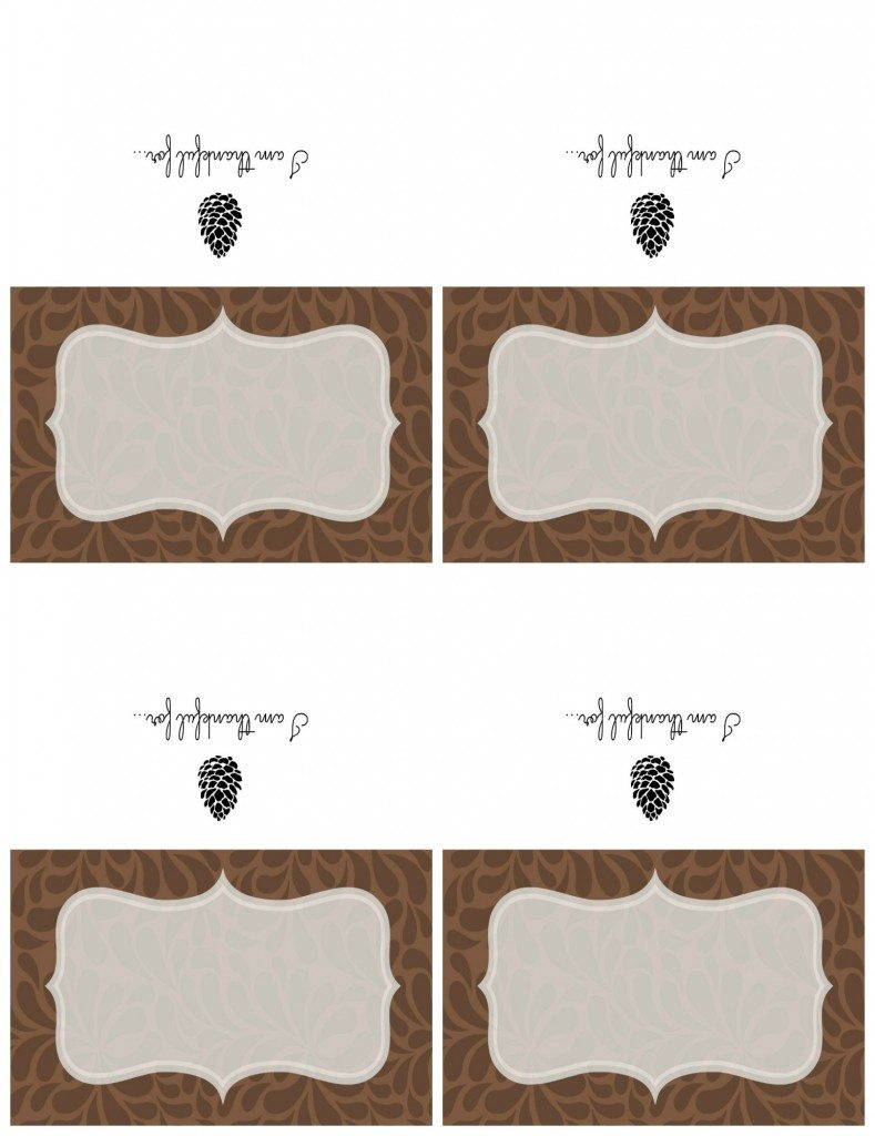 Printable Thanksgiving Place Cards & Chalkboard Sign | 11 Magnolia Lane | Printable Table Name Cards For Thanksgiving