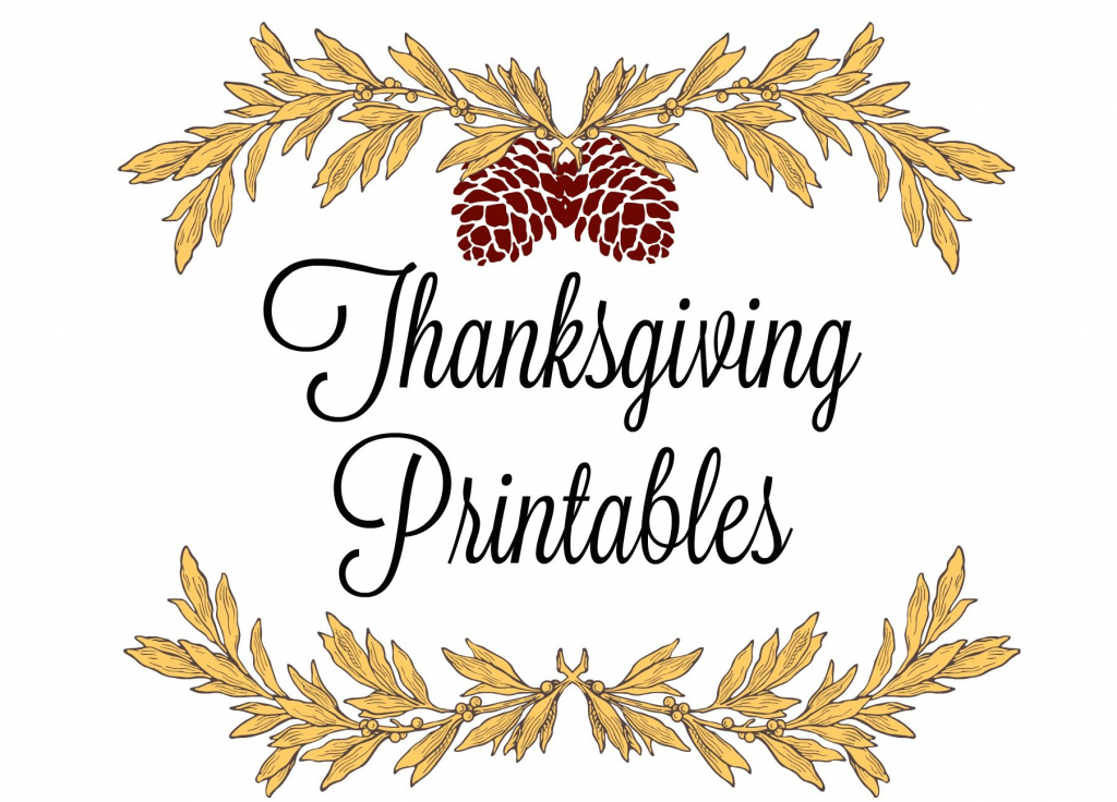 Printable Thanksgiving Place Cards & Menus   Printable Thanksgiving Place Cards