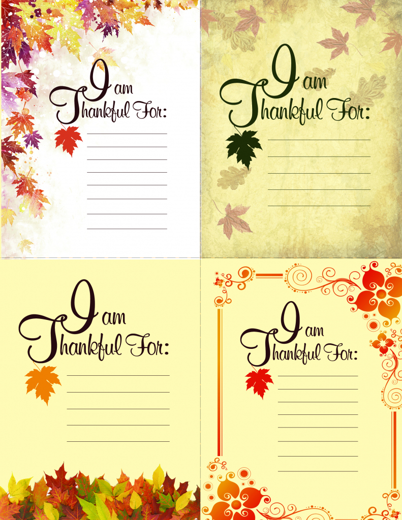 Printable Thanksgiving Place Setting Cards | Blue Mountain | Blue Mountain Printable Cards