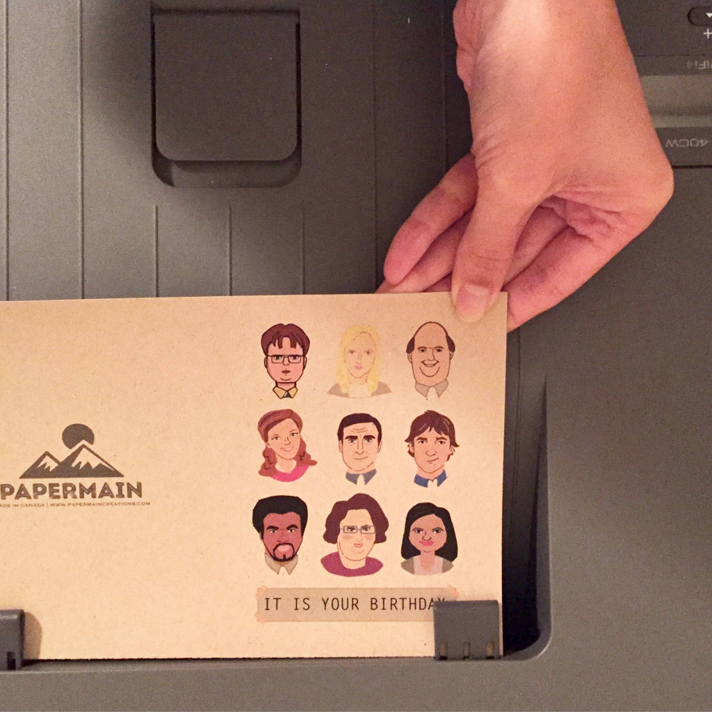 Printable The Office Tv Show Birthday Card, Dunder Mifflin Card | The Office Printable Birthday Card