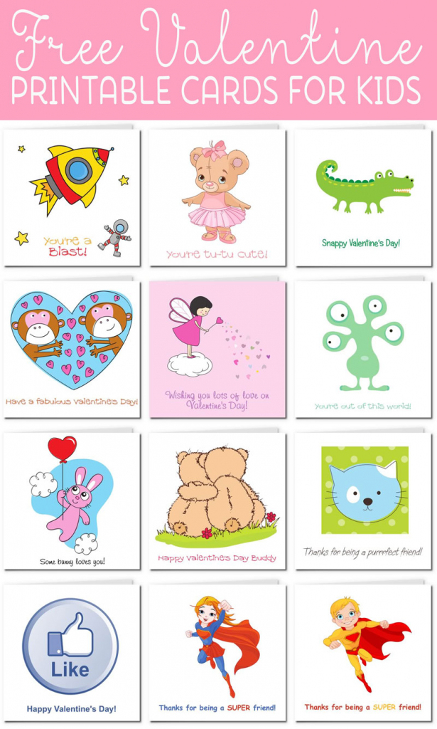Printable Valentine Cards For Kids | Free Printable Childrens Valentines Day Cards