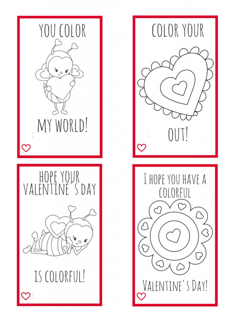Printable Valentine Cards For Kids--Perfect For Kids To Make For | Free Printable Color Your Own Cards