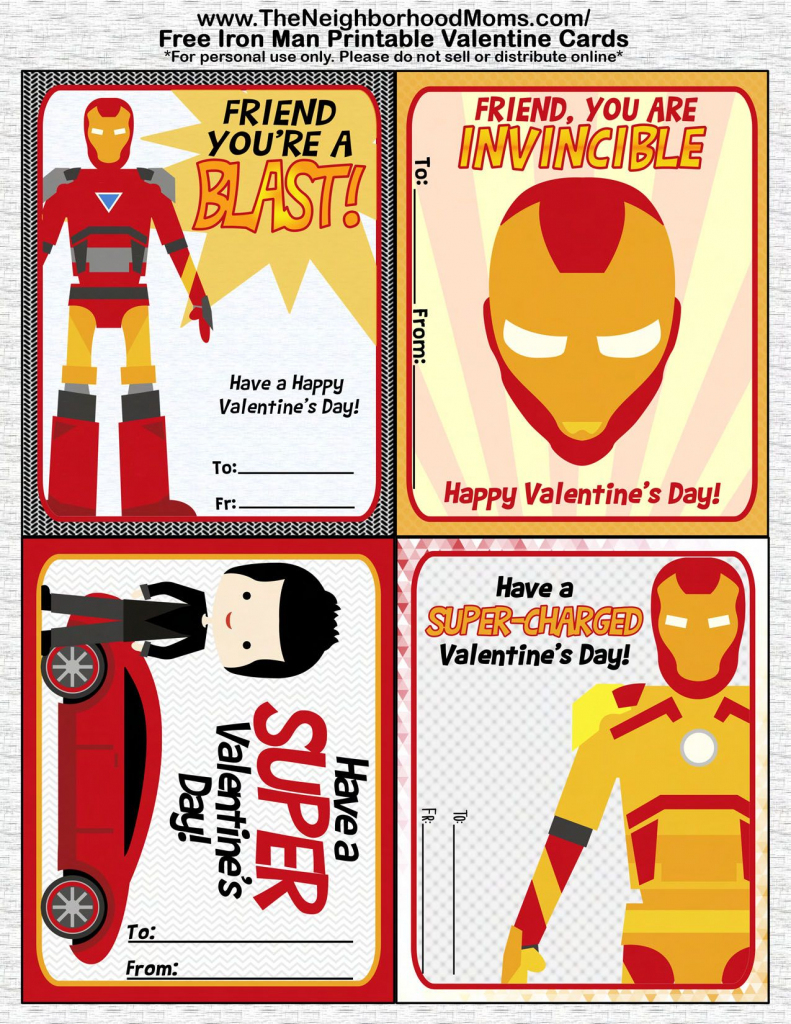 Printable Valentine's Cards   Valentine's Day Crafts And Recipes   Free Printable Superman Valentine Cards
