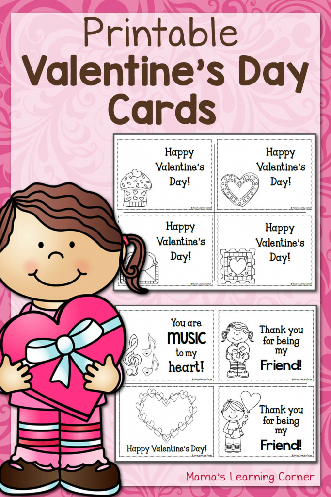 Printable Valentine's Day Cards - Mamas Learning Corner | Free Printable Valentines Day Cards Kids