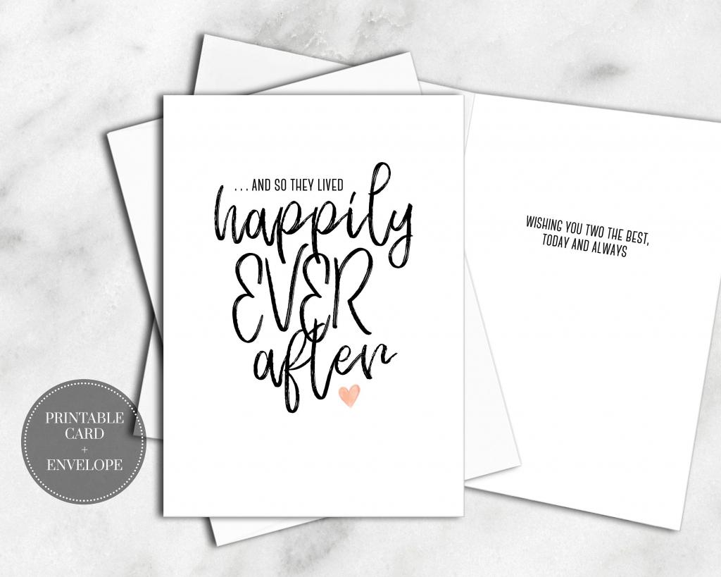 Printable Wedding Cards Bridal Shower Digital Download Calligraphy   Printable Bridal Shower Card