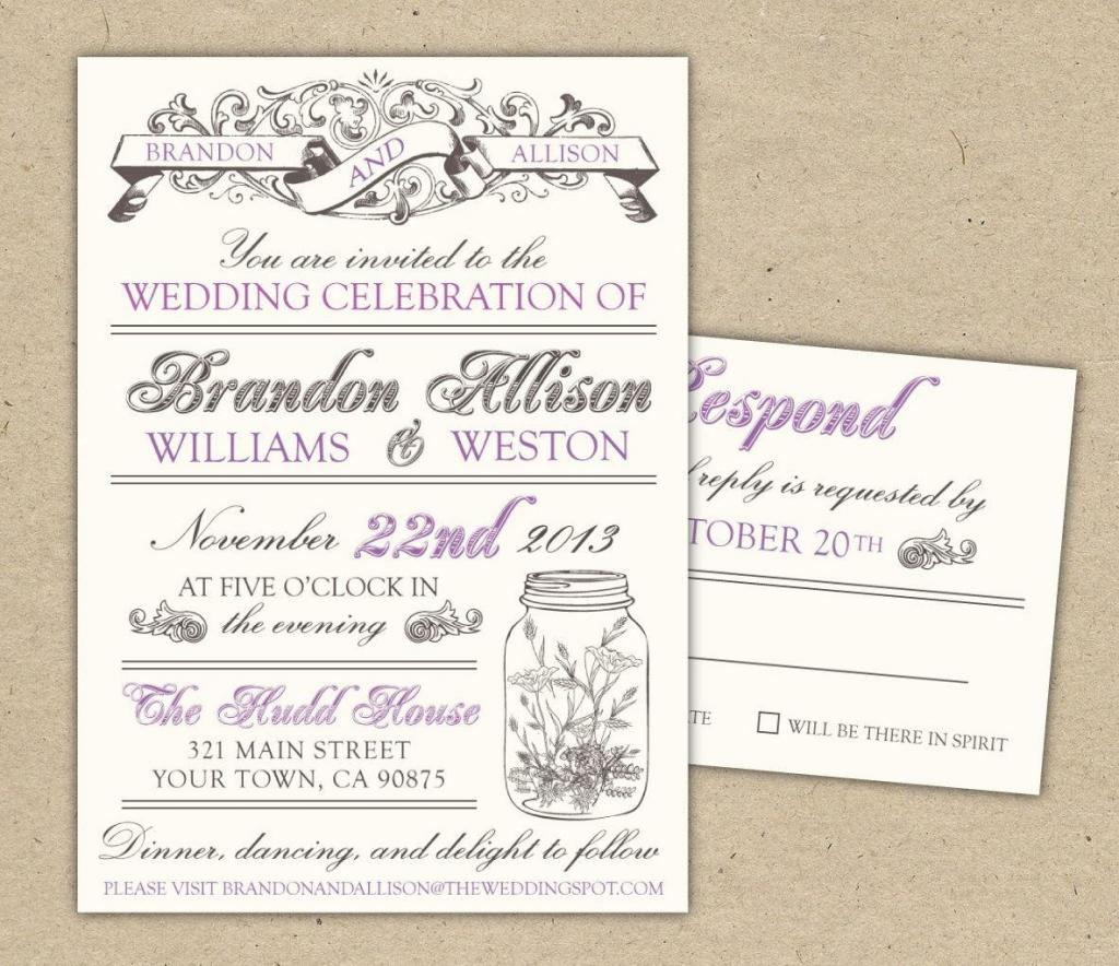 Printable Wedding Invites Templates - Rome.selphee.co | Wedding Invitation Cards Printable Free