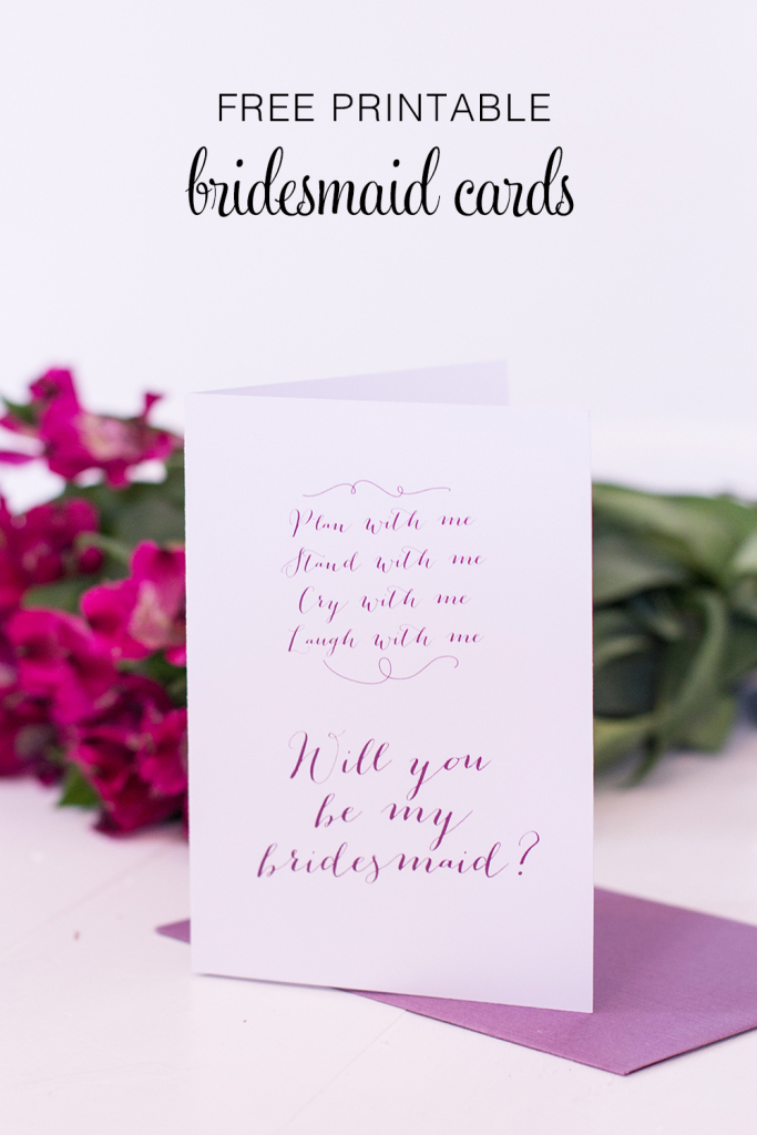 Printable Will You Be My Bridesmaid Cards - Polka Dot Bride   Free Printable Will You Be My Bridesmaid Cards