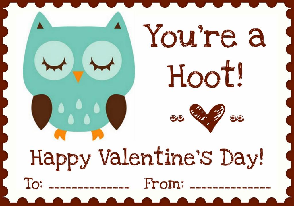 "Printables} ""owl Love You"" Valentines | A Night Owl Blog | Free Printable Owl Valentine Cards"