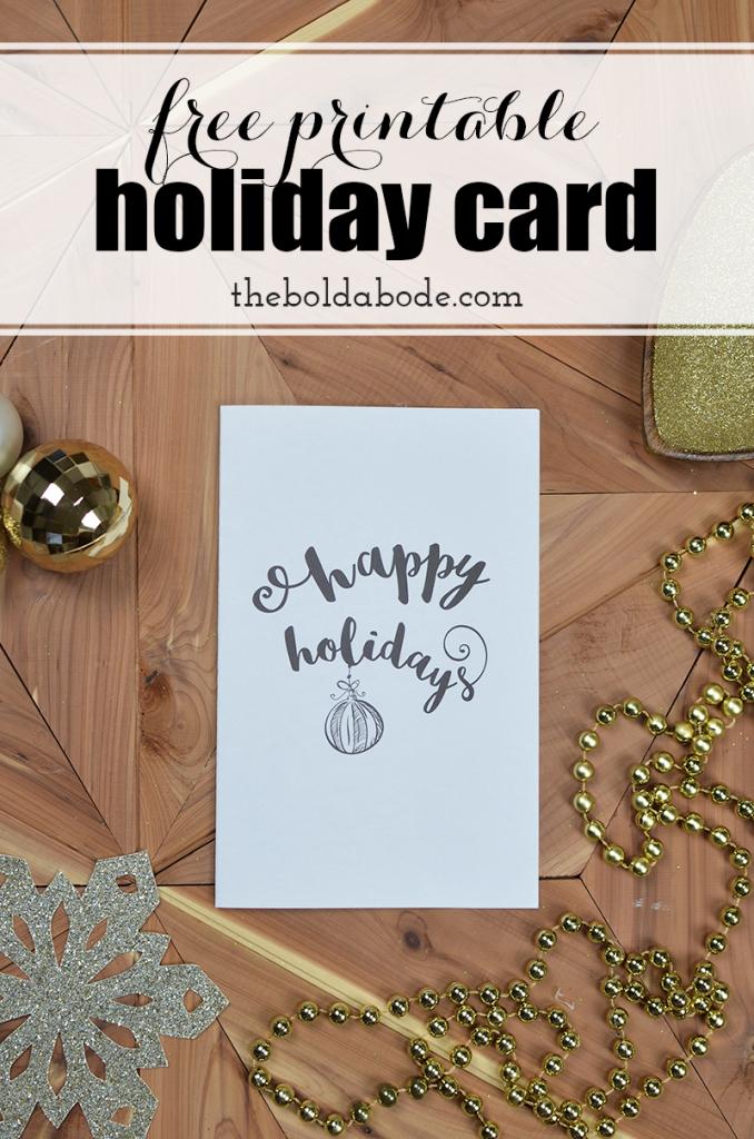 Printing The Holidays: Free Printable Holiday Greeting Card | Printable Holiday Photo Cards