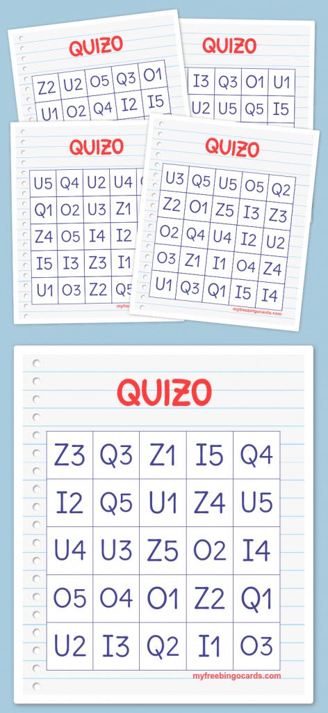 Quizo Bingo   Quizo   100Th Day, 100S Day, The 100   Free Printable Bingo Cards 1 100