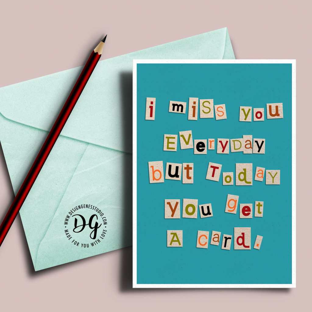 Ransom Note I Miss You Card Long Distance Love Card I Miss | Etsy | I Miss You Cards For Him Printable