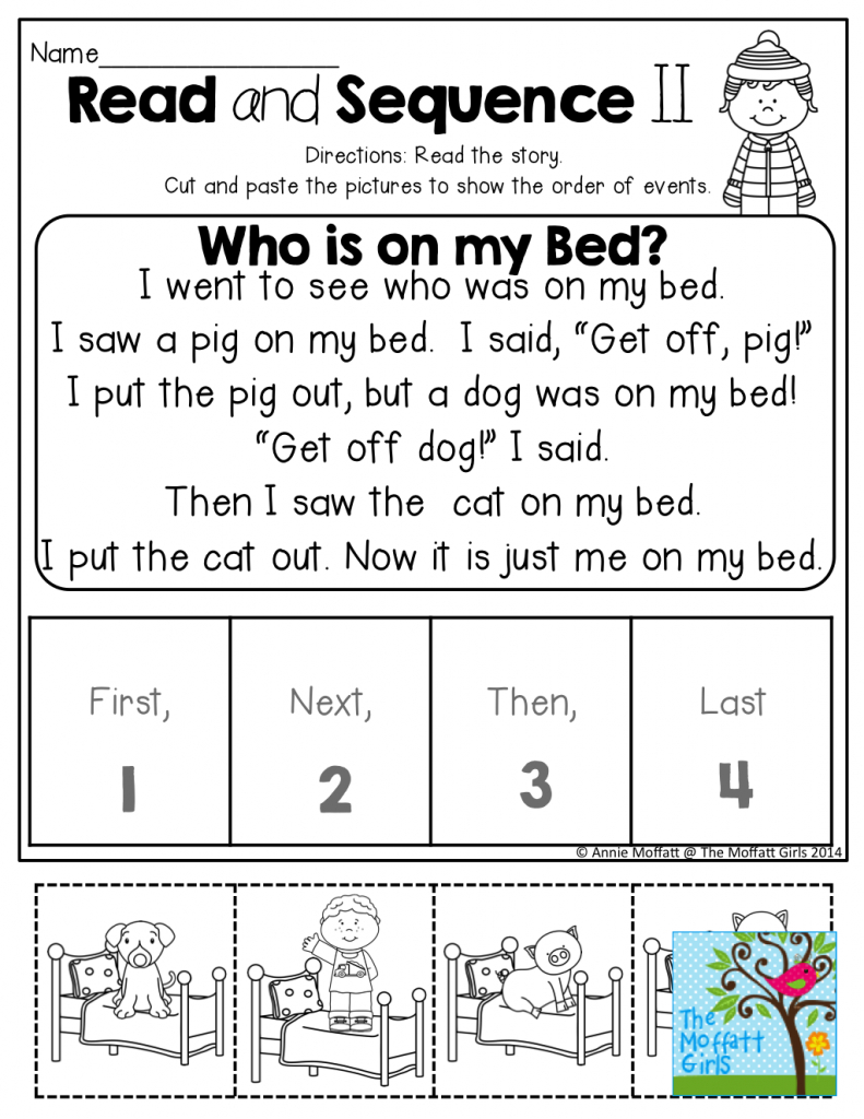 Read And Sequence The Simple Story! Cut And Past The Pictures In | Printable Sequencing Cards For First Grade