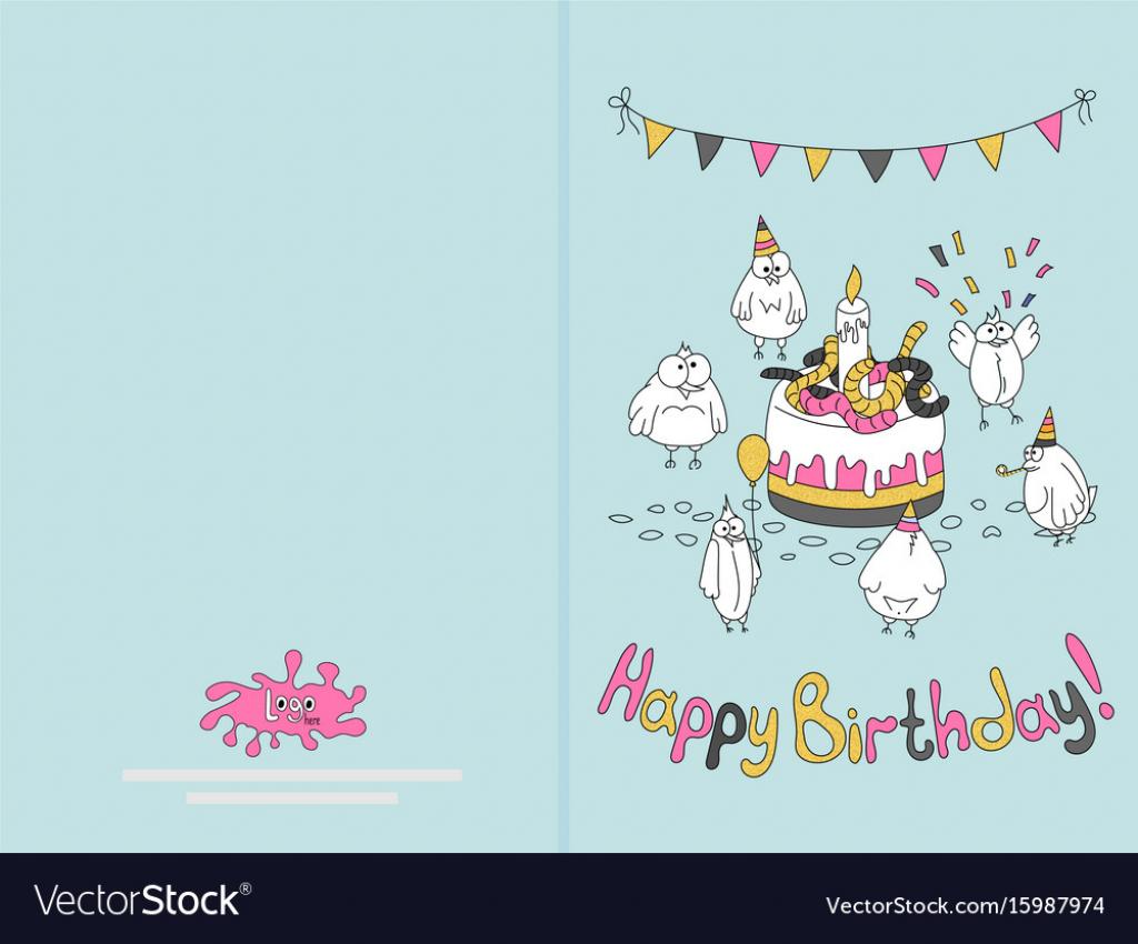 Ready For Print Happy Birthday Card Design With Vector Image   Happy Birthday Card Printable