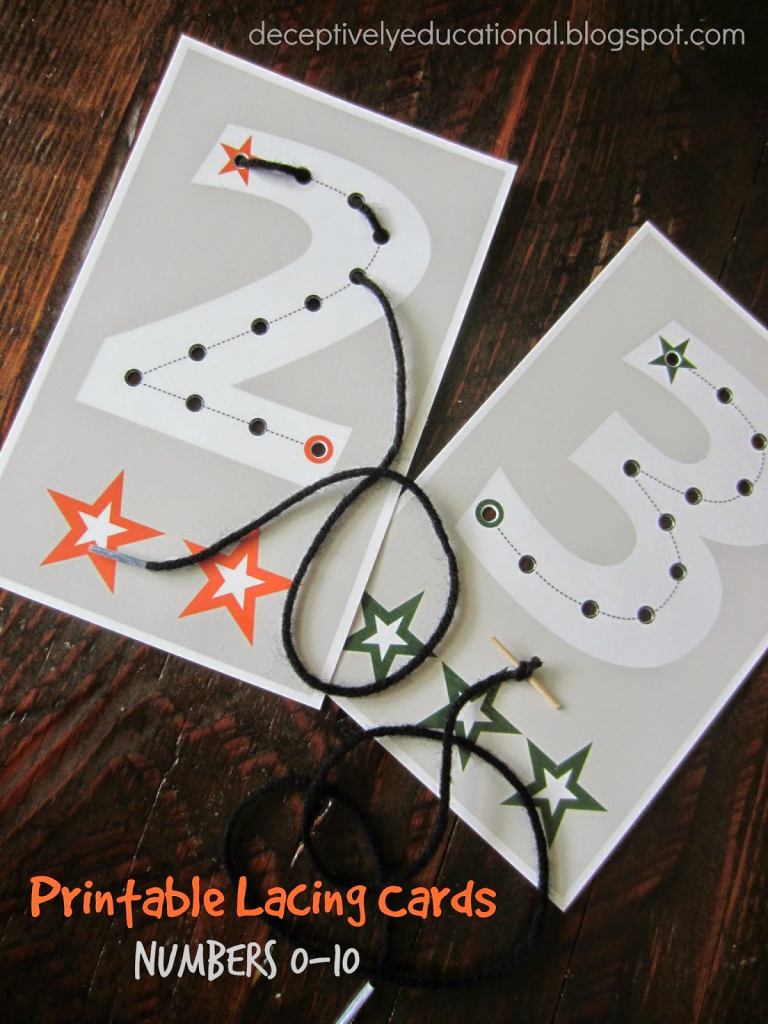 Relentlessly Fun, Deceptively Educational: Printable Lacing Cards   Printable Lacing Cards Numbers